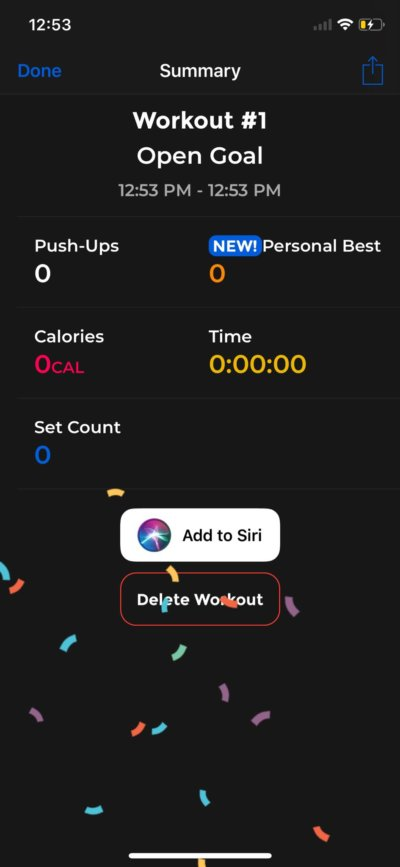 Summary on iOS by PushFit from UIGarage