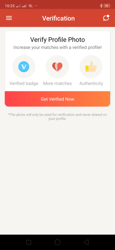 Verification on Android by Tantan from UIGarage