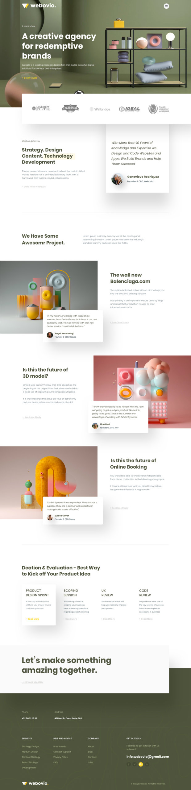Webovio - Creative Agency Landing Page from UIGarage