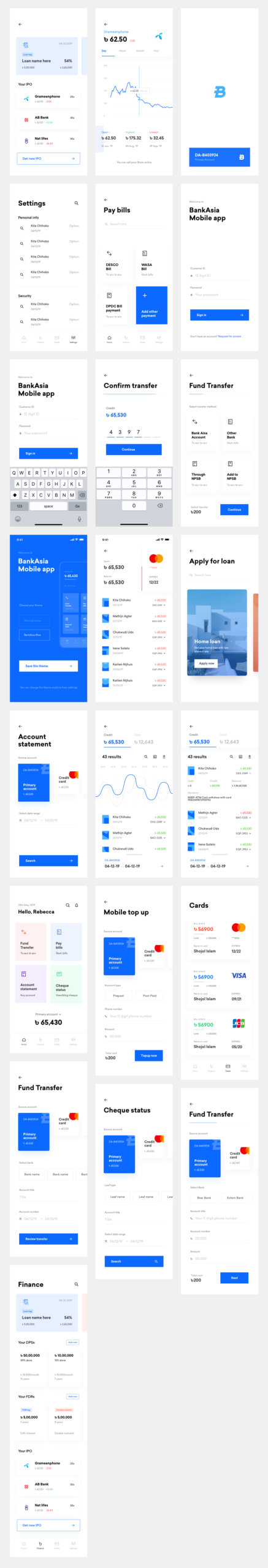 Banking Wallet App Free UI Kit for Sketch from UIGarage