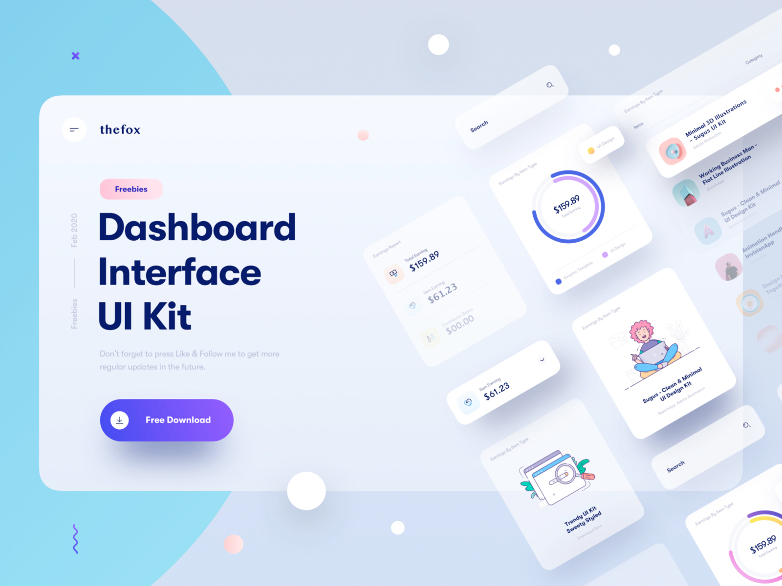 Dashboard Interface UI Kit for Sketch from UIGarage