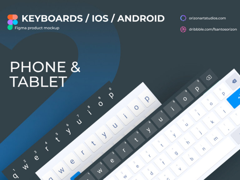 Android & iOS Keyboards for Figma from UIGarage