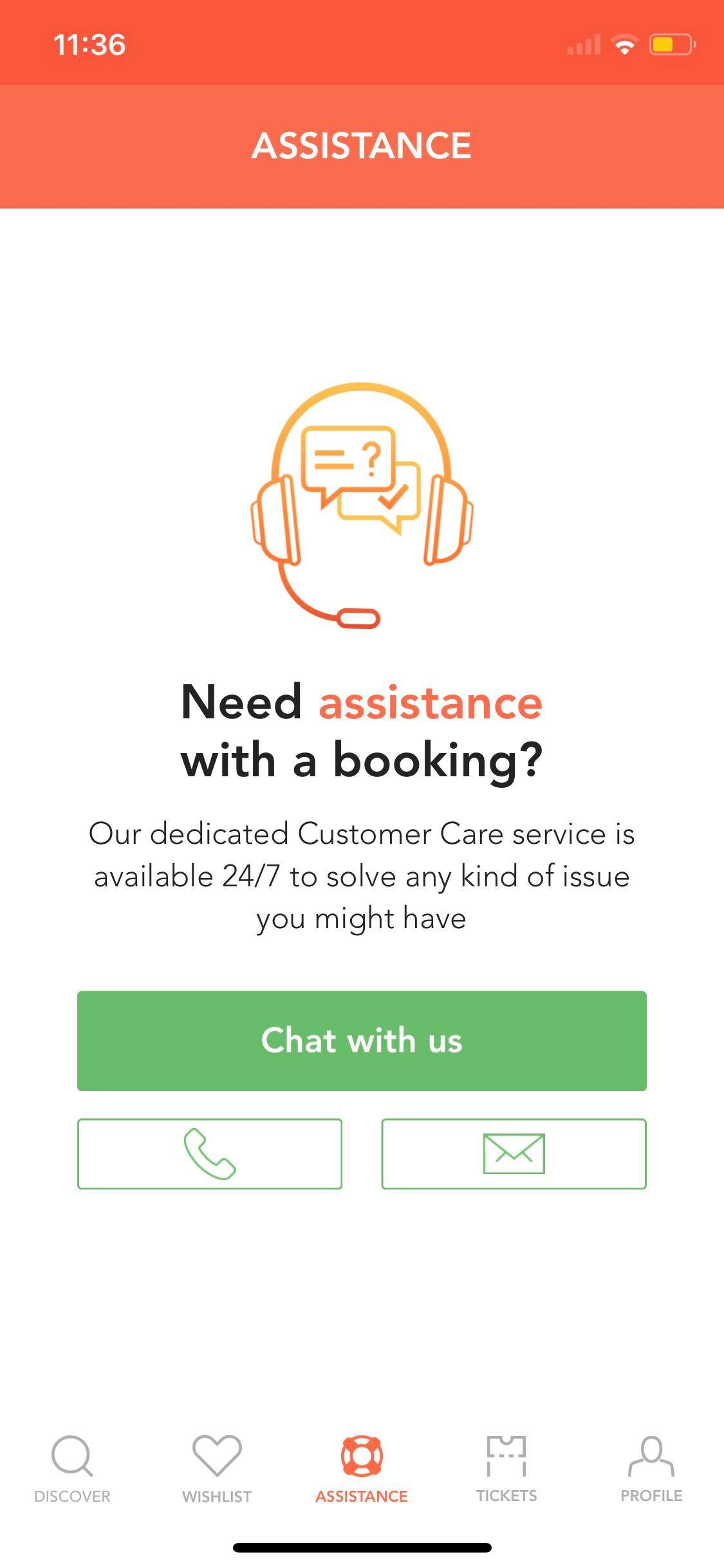 Assistance on iOS by Musement from UIGarage