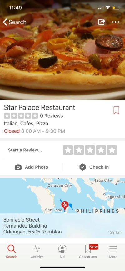 Content Screen on iOS by Yelp from UIGarage