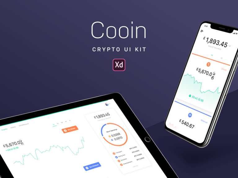Cooin Crypto UI Kit for Adobe XD from UIGarage