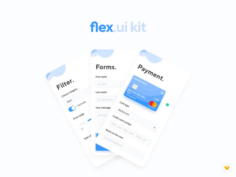 Flex UI Kit for Sketch from UIGarage