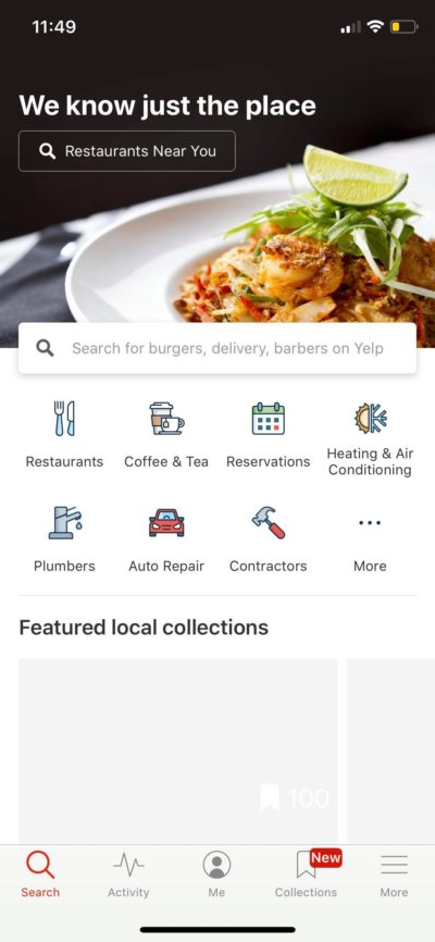 Home on iOS by Yelp from UIGarage