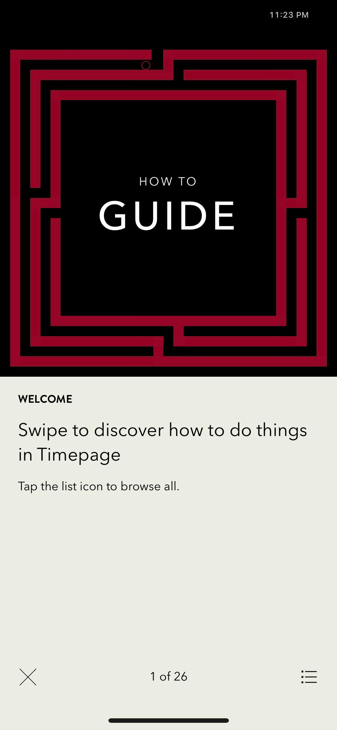Guide on iOS by Time Page from UIGarage