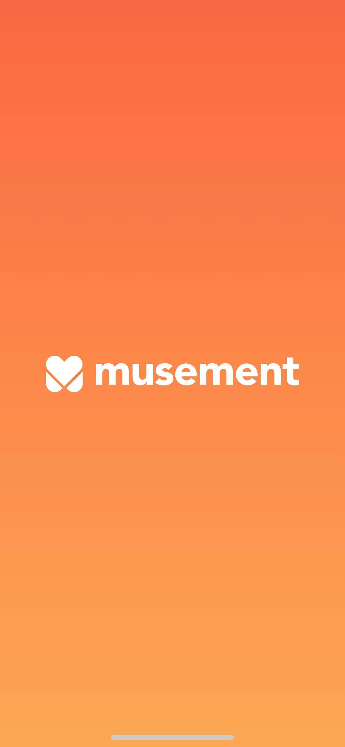 Launch Screen on iOS by Musement from UIGarage