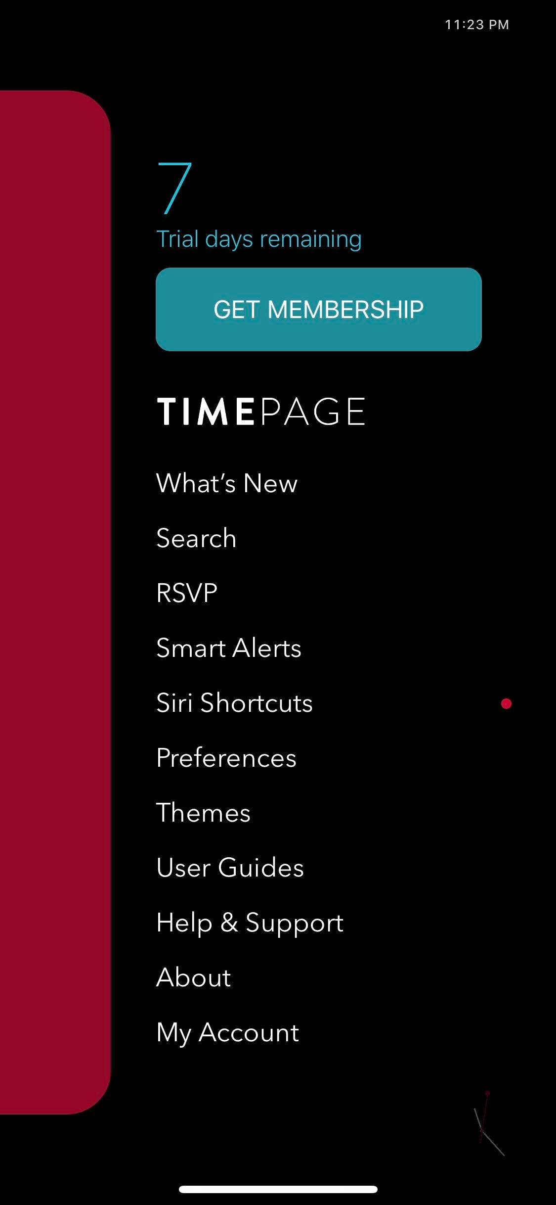 Menu on iOS by Time Page from UIGarage