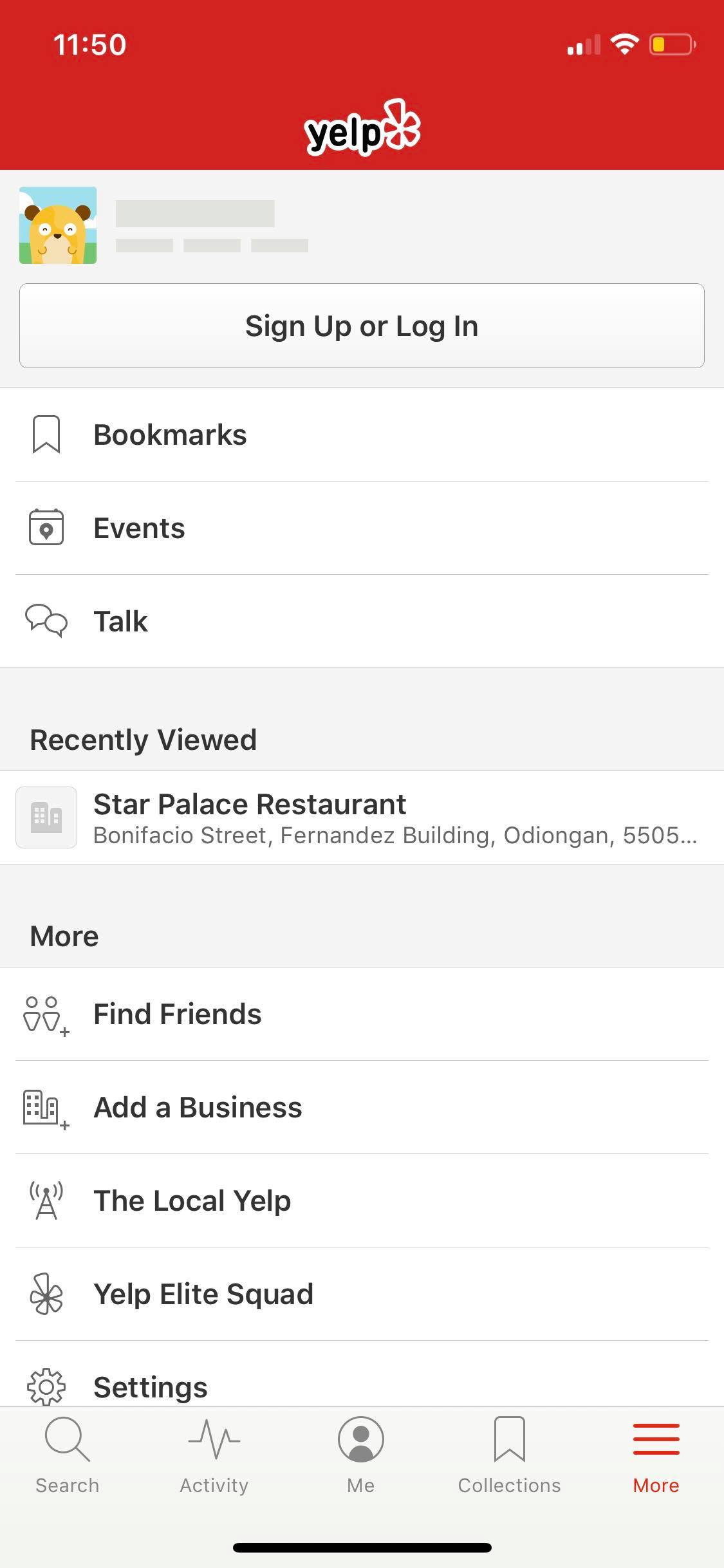 Menu on iOS by Yelp from UIGarage