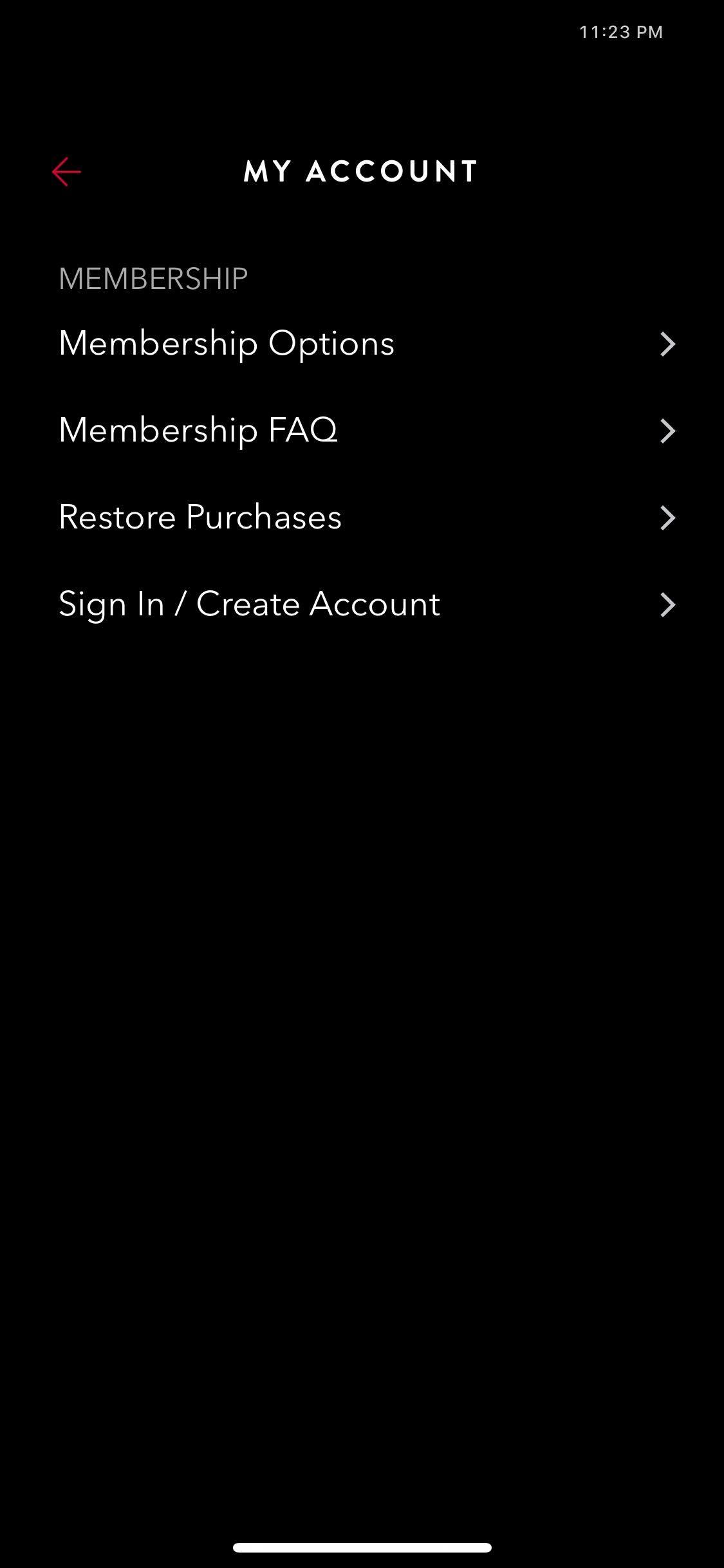 My Account on iOS by Time Page from UIGarage