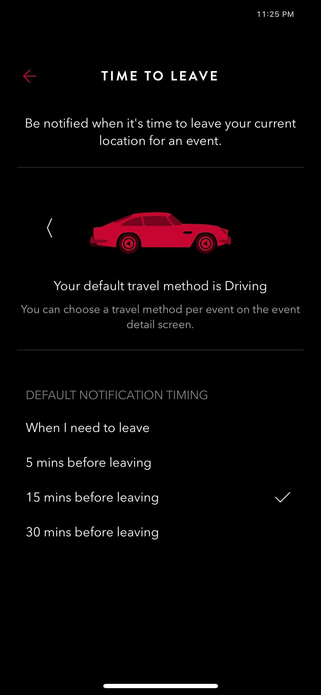 Time to Leave on iOS by Time Page from UIGarage