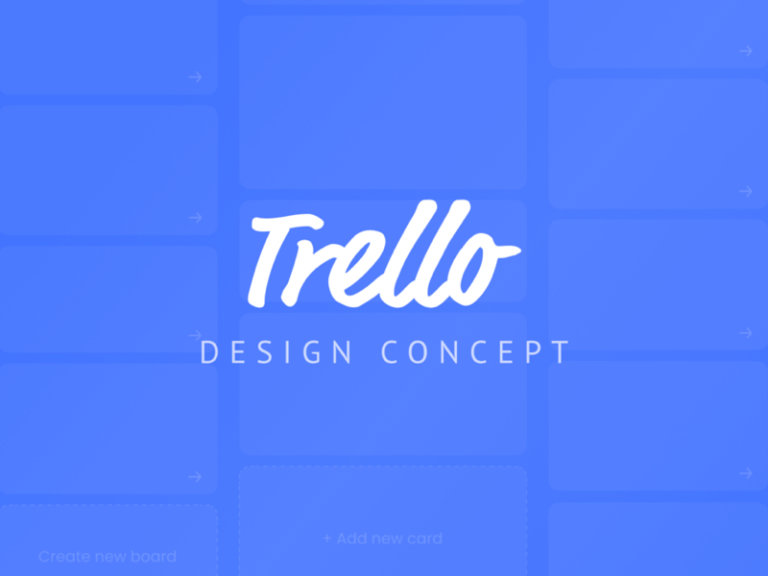Trello Design Concept from UIGarage