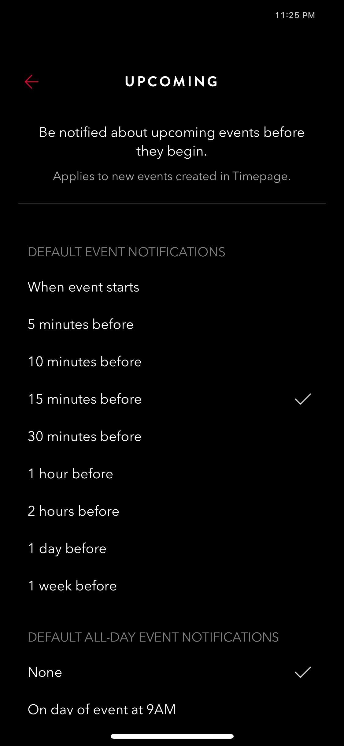 Upcoming on iOS by Time Page from UIGarage