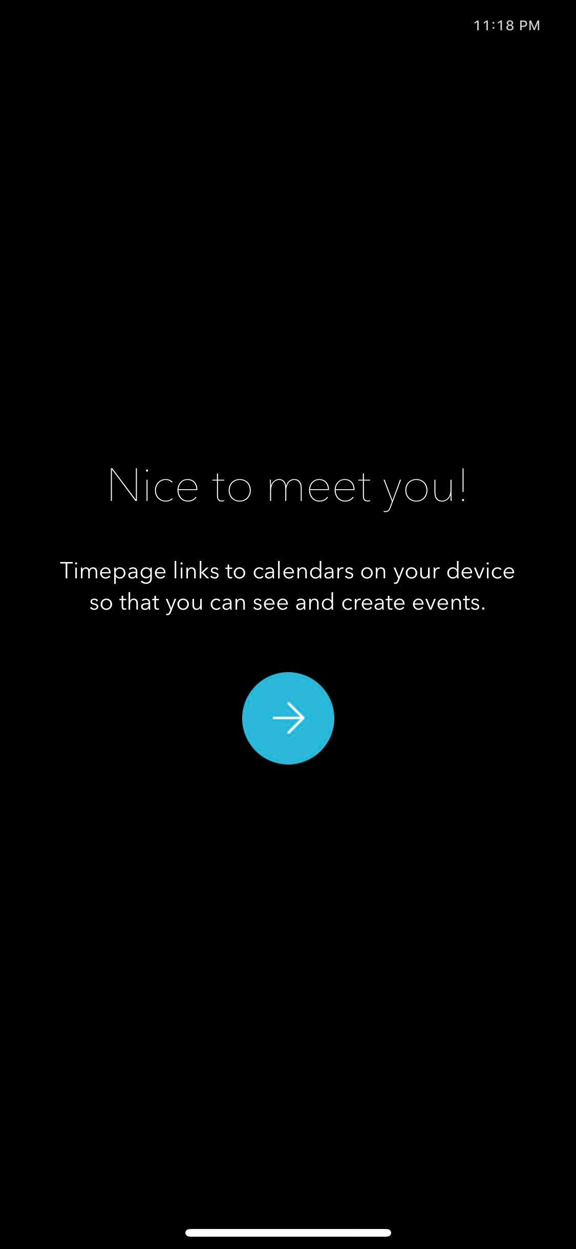 Welcome on iOS by Time Page from UIGarage