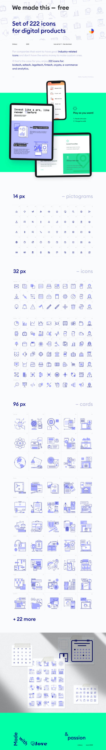 222 Free Icons for Digital Products from UIGarage