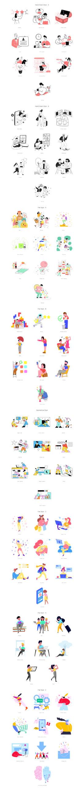 80 Streamline Free Illustrations from UIGarage