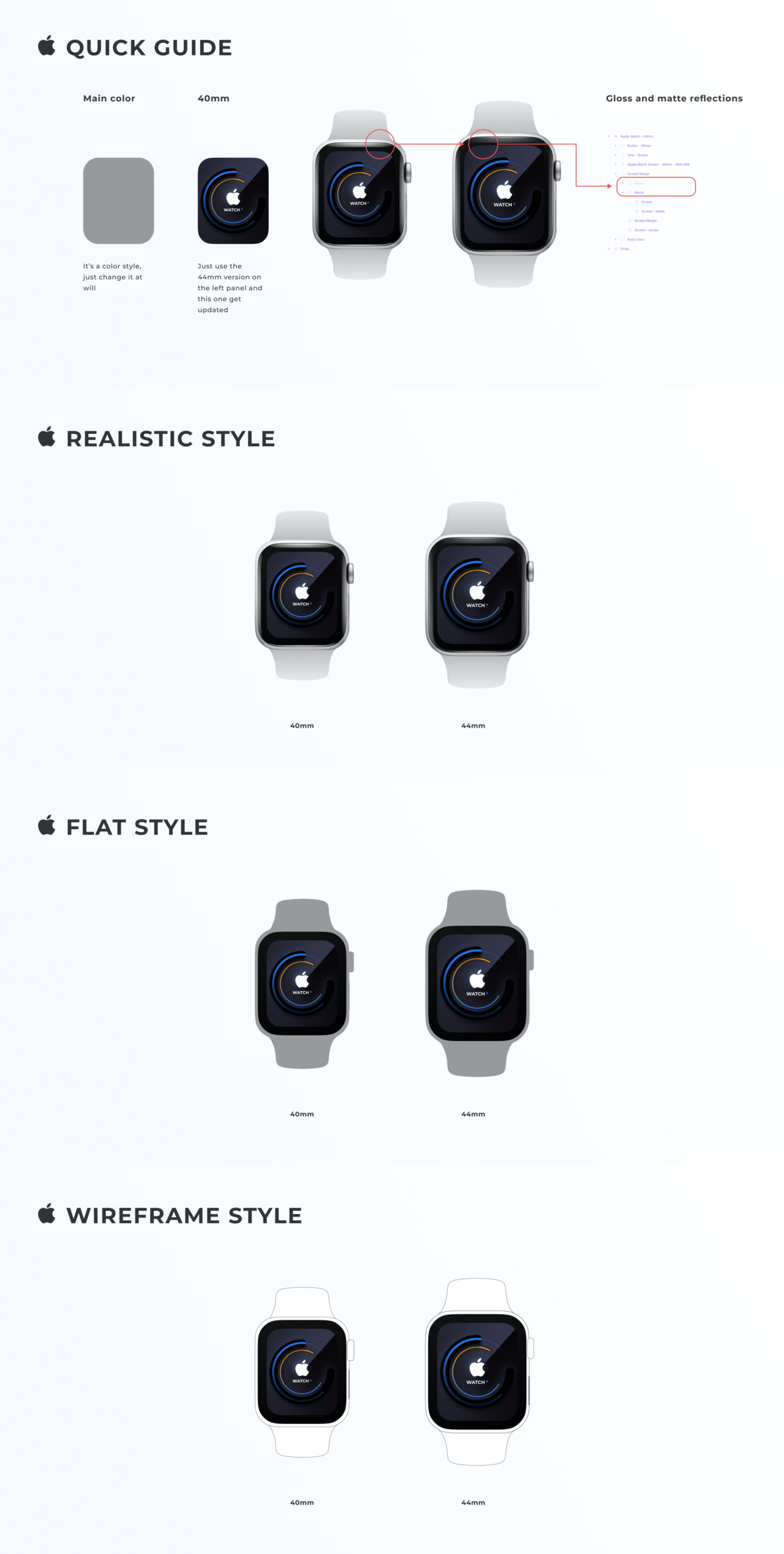 Apple Watch Mockup for Figma from UIGarage