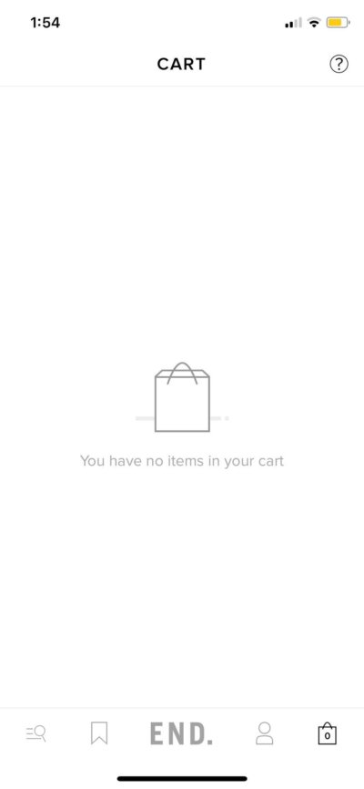 Cart on iOS by End from UIGarage