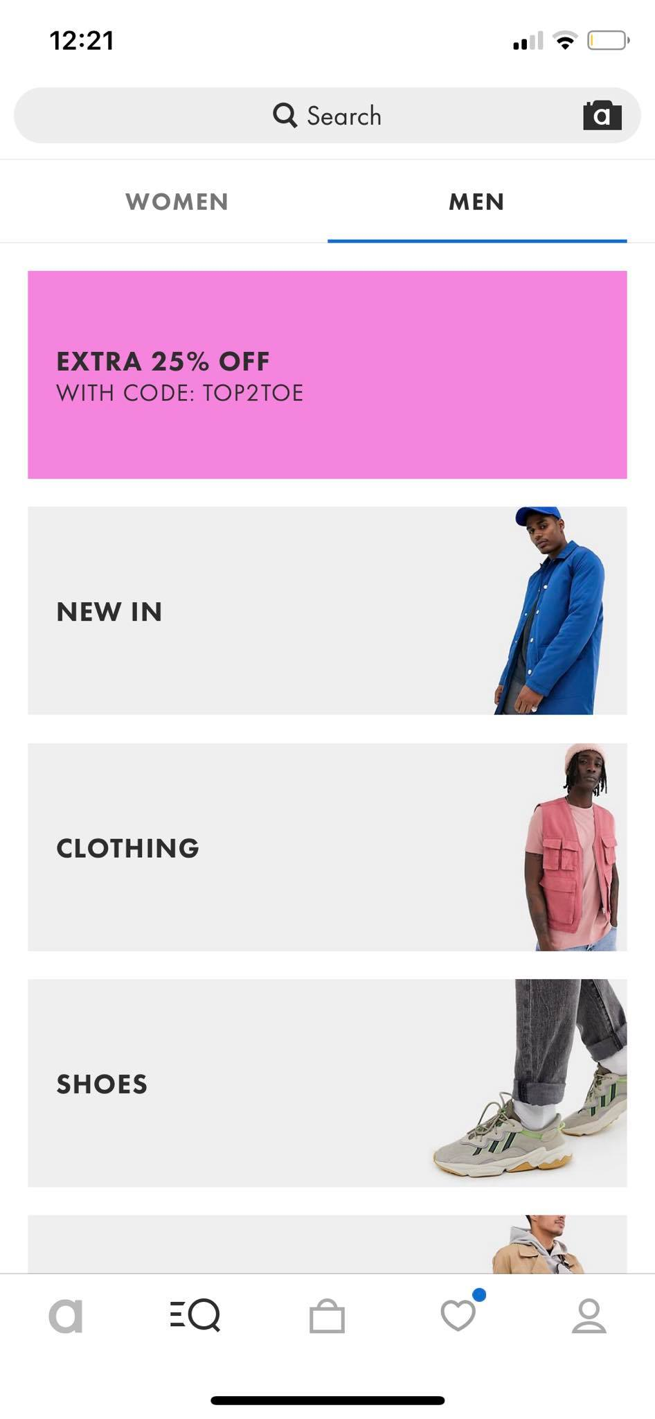 Categories on iOS by Asos from UIGarage