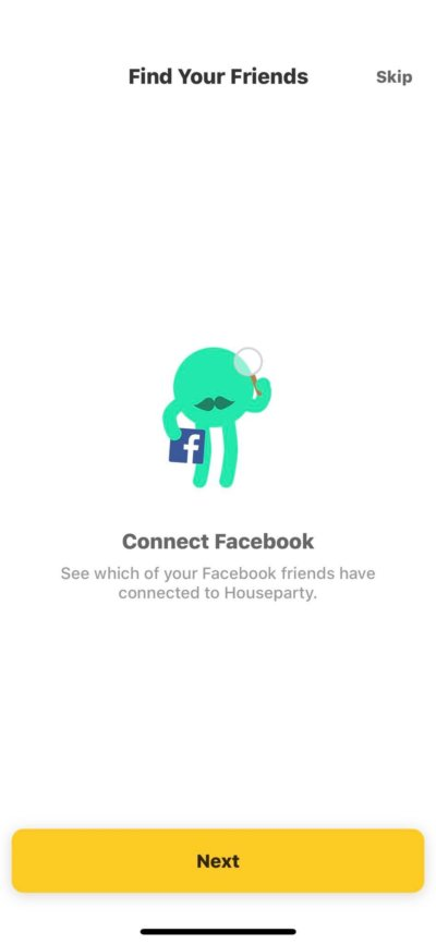Conect Facebook on iOS by Houseparty from UIGarage