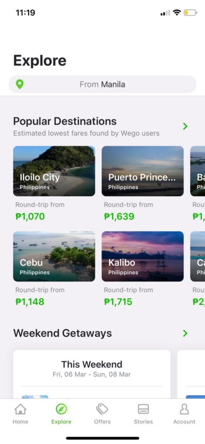 Explore on iOS by Wego from UIGarage