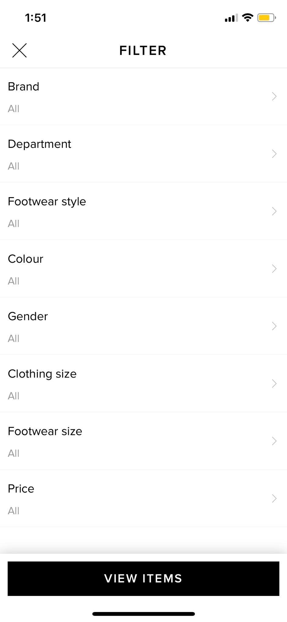 Filter on iOS by End from UIGarage