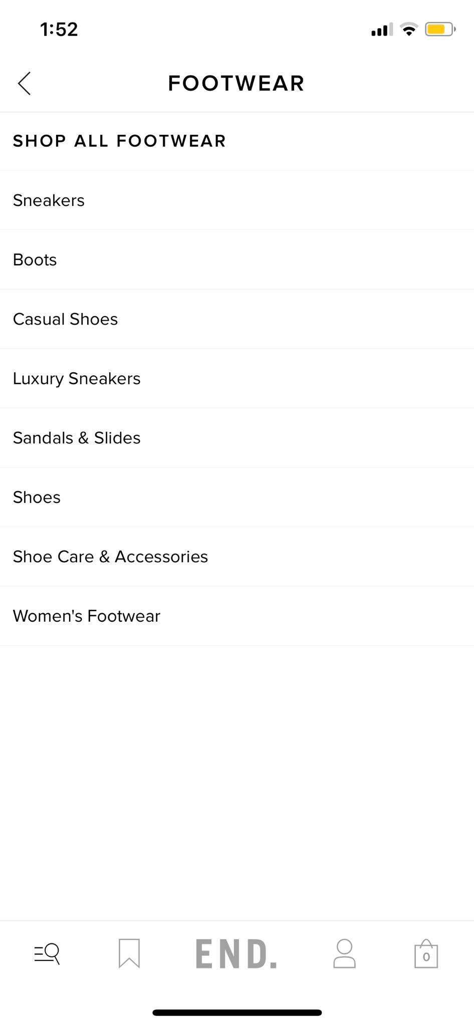 Footwear on iOS by End from UIGarage