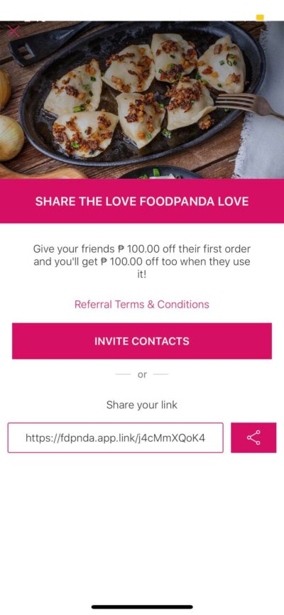 Invite on iOS by Food Panda from UIGarage