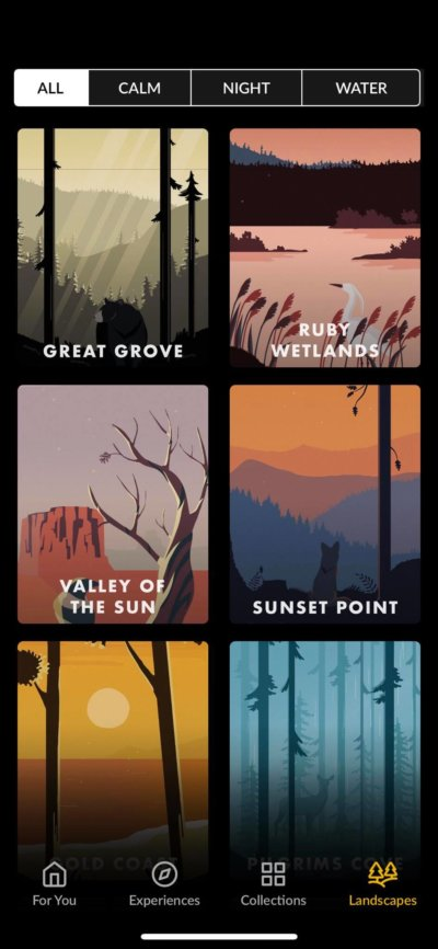 Landscapes on iOS by Wild Journey from UIGarage