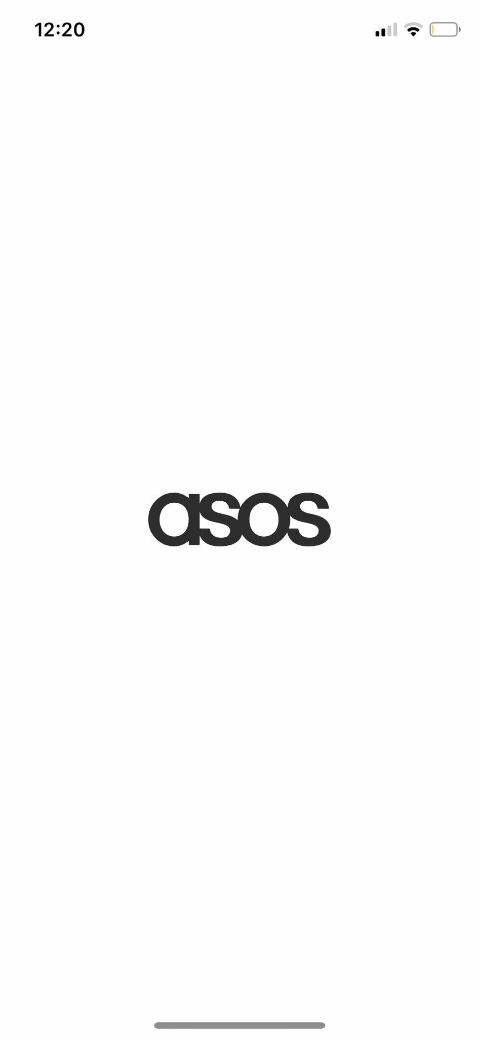 Launch Screen on iOS by Asos from UIGarage