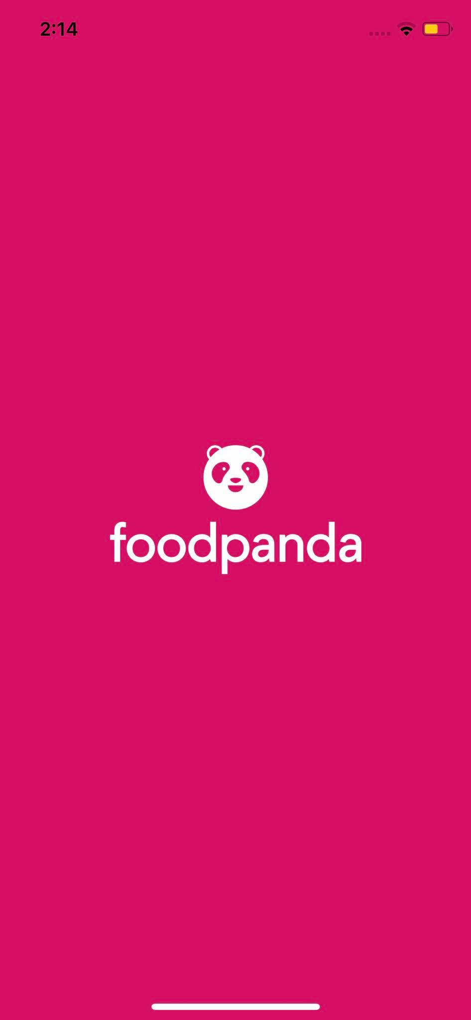Launch Screen on iOS by Food Panda from UIGarage