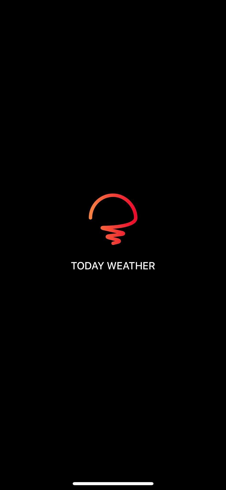 Launch Screen on iOS by Today Weather from UIGarage
