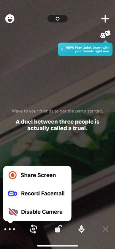 Menu on iOS by Houseparty from UIGarage