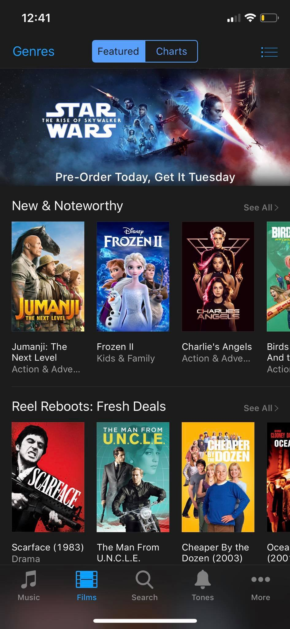 Movies on iOS by iTunes from UIGarage
