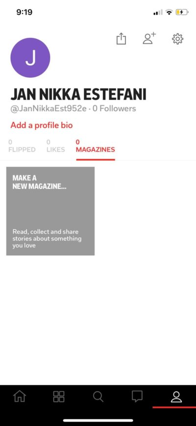 Profile on iOS by Flipboard from UIGarage