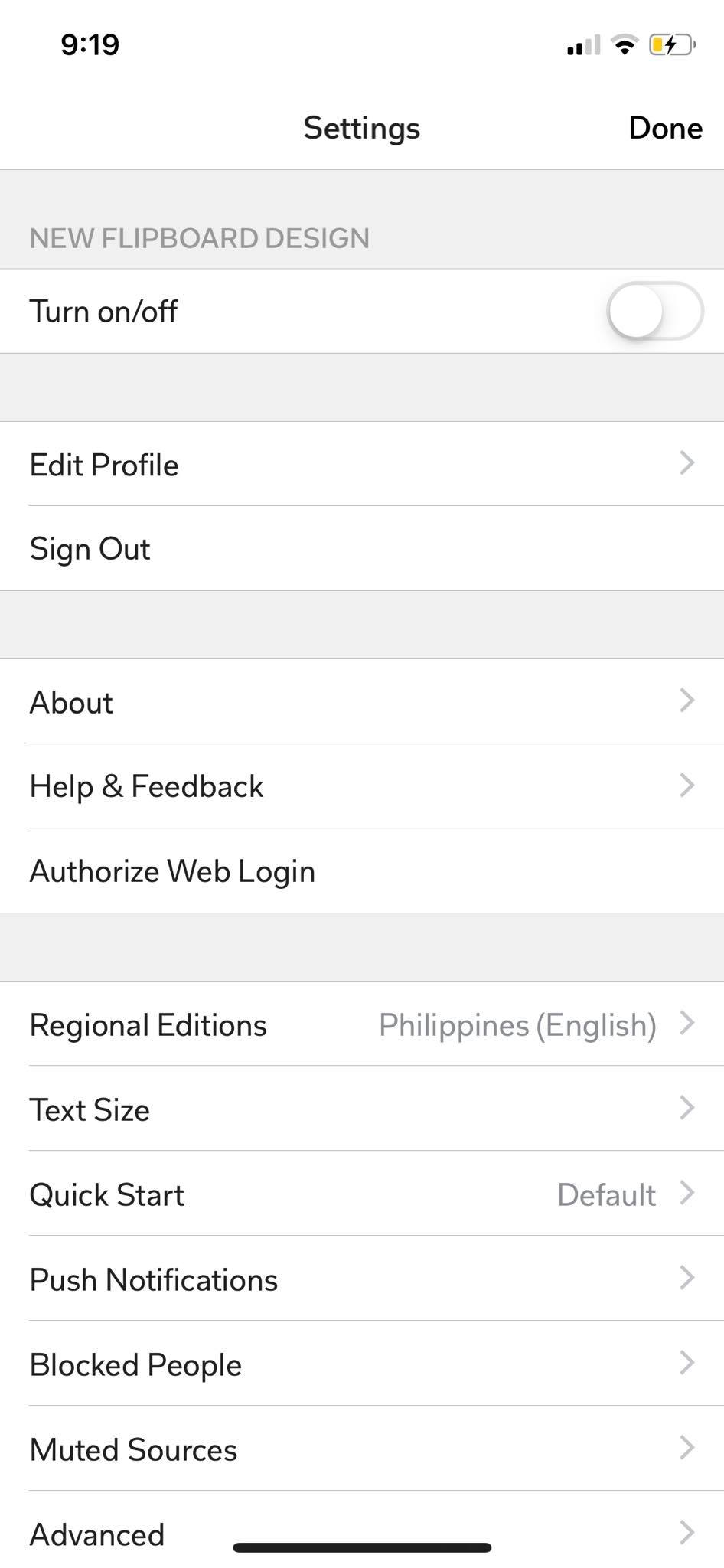 Settings on iOS by Flipboard from UIGarage