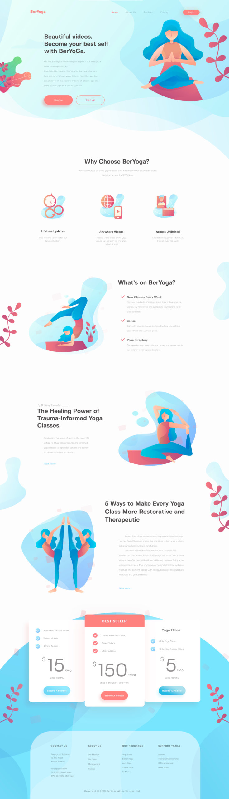 BerYoga - Yoga Landing Page from UIGarage