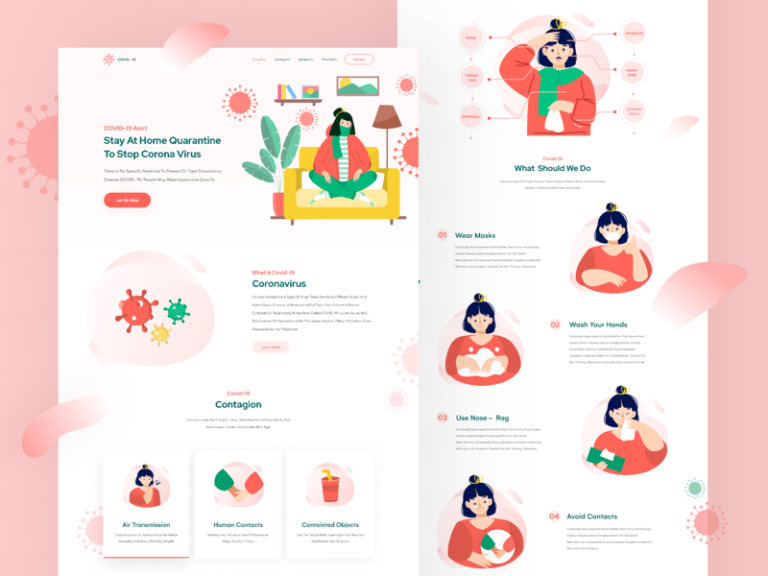 COVID-19 Landing Page for Figma from UIGarage