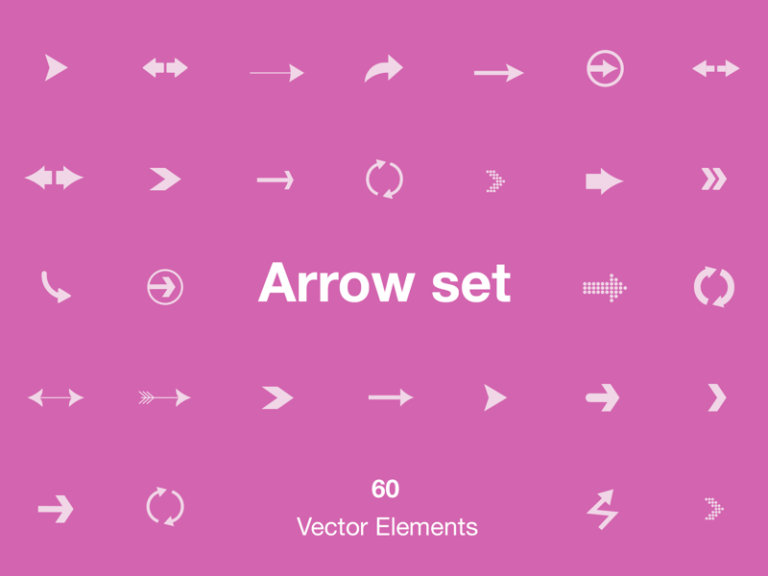 Arrow Set - 60 Vector Elements from UIGarage