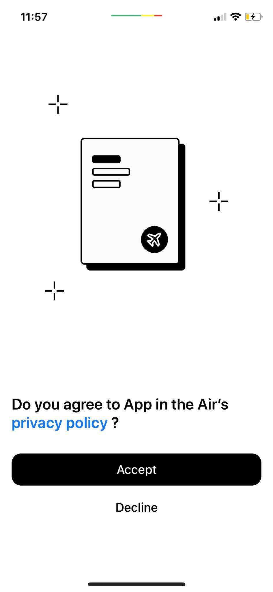 Ask Permission on iOS by App in the Air from UIGarage