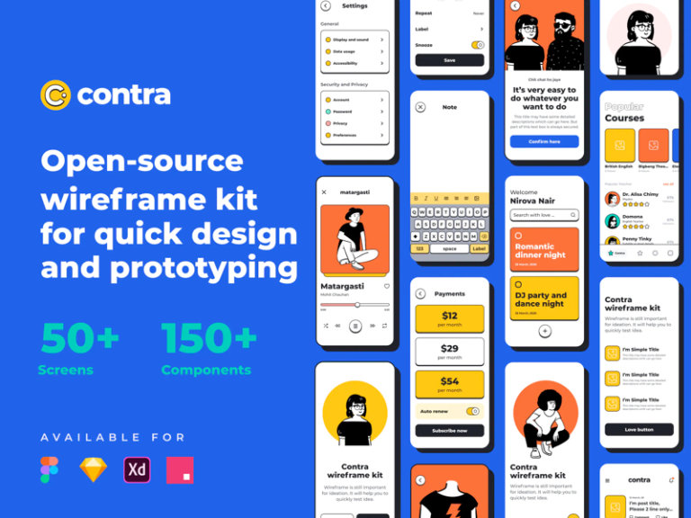 Contra - Open Source Wireframe Kit from UIGarage