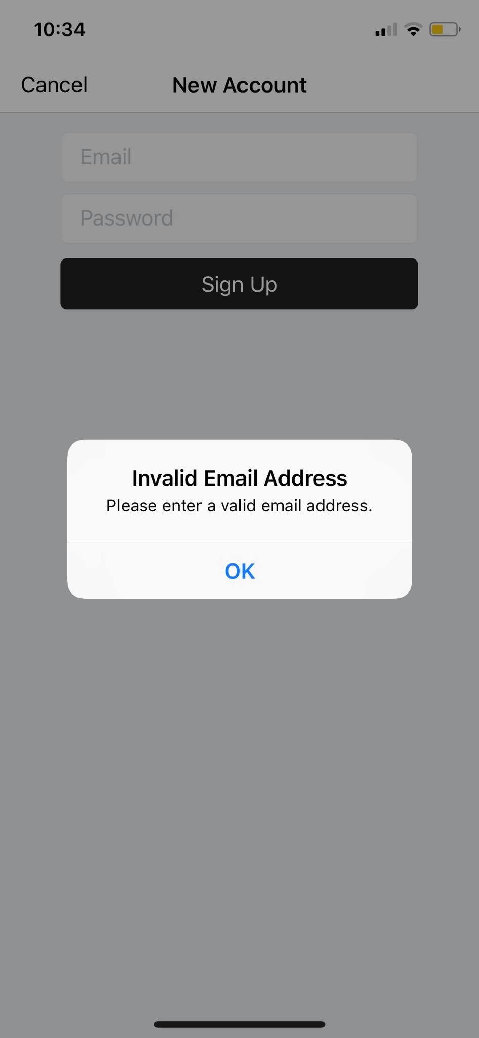 Error on iOS by Instapaper from UIGarage