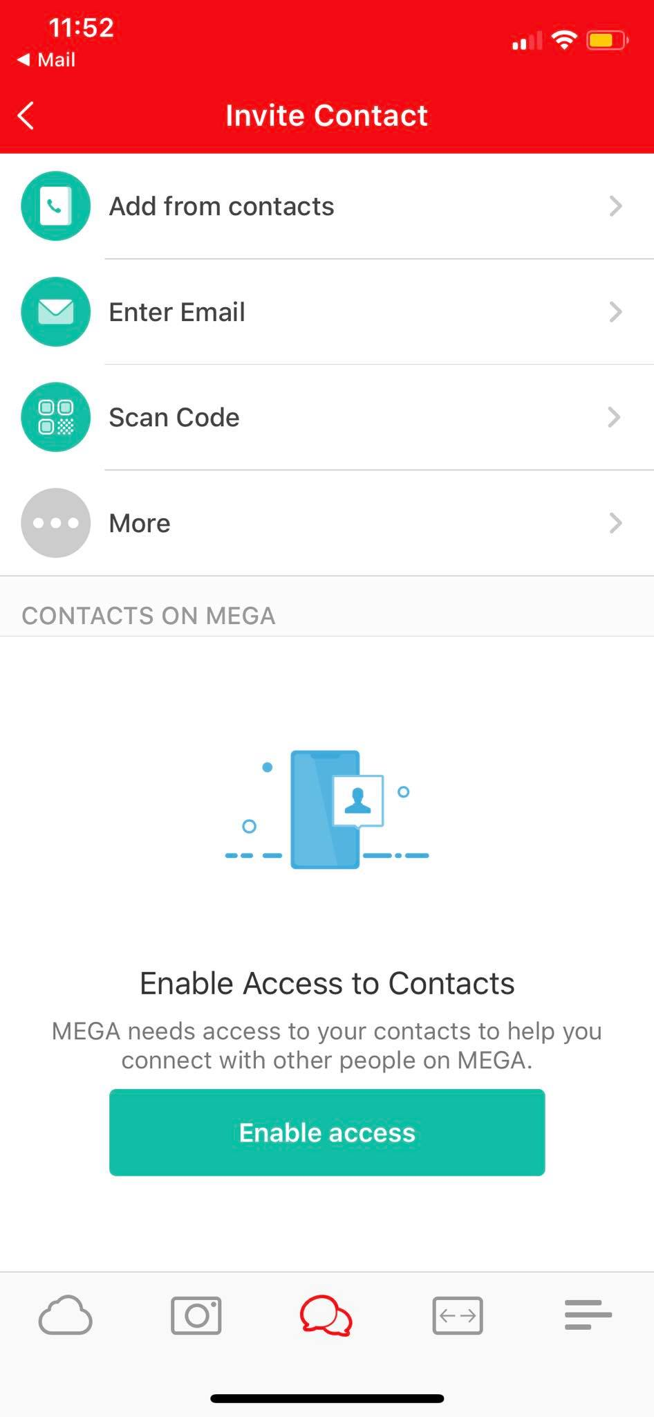 Invite Contact on iOS by Mega from UIGarage