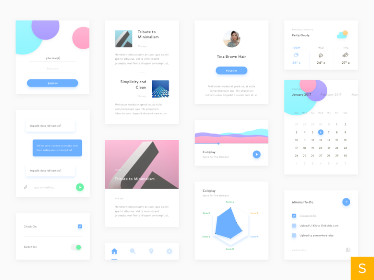 Minimal UI Kit from UIGarage