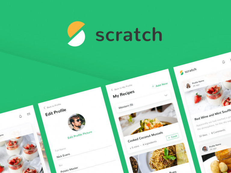 Scratch Recipe UI Kit from UIGarage