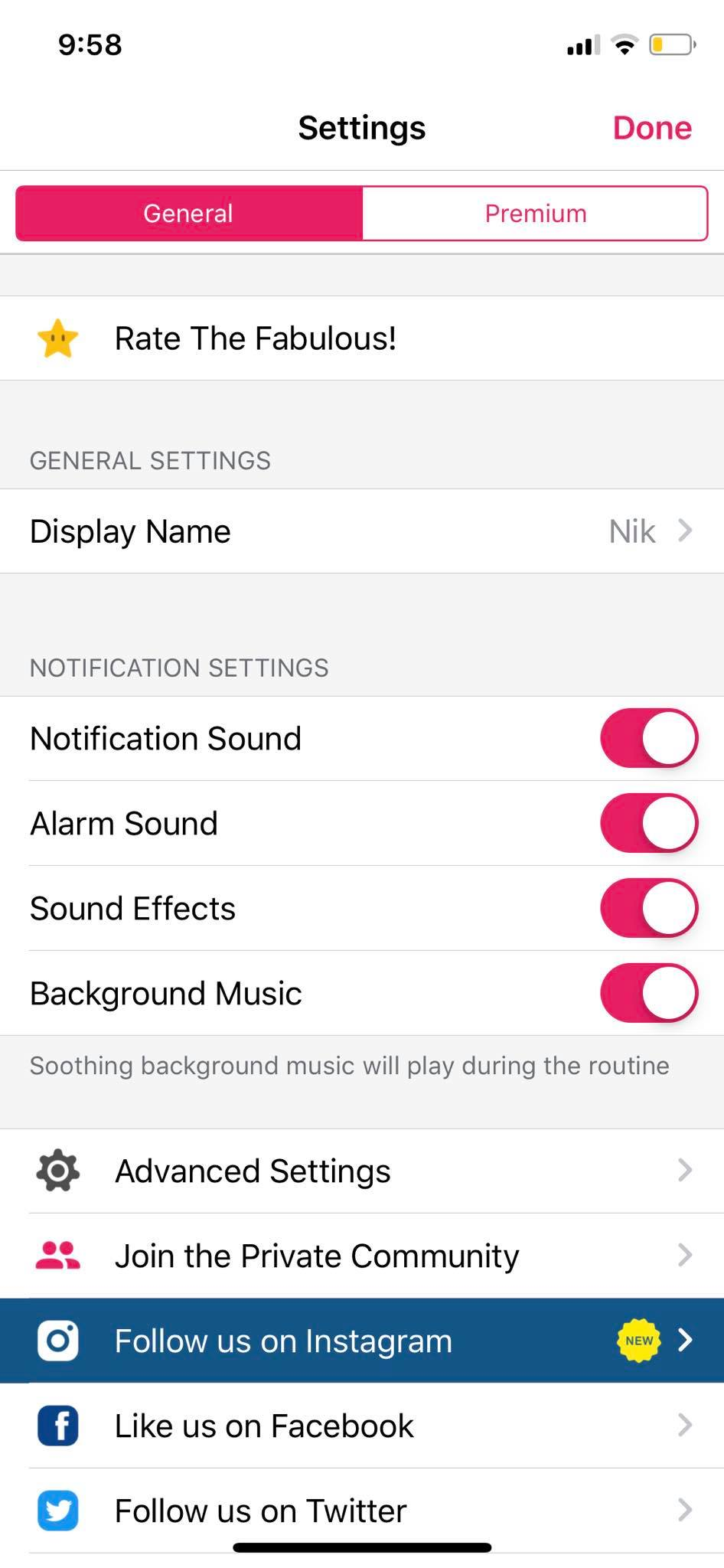 Settings on iOS by Fabulous from UIGarage