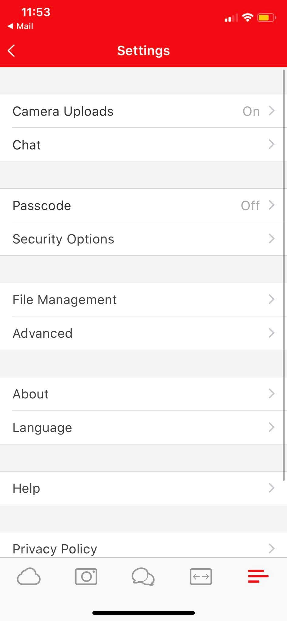 Settings on iOS by Mega from UIGarage