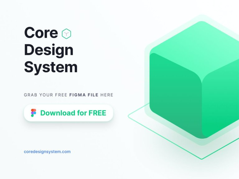 Free Core Design System For Figma from UIGarage